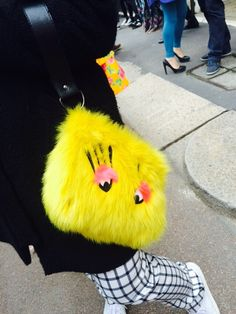 Fashion Street - bag with fur -Milan 15