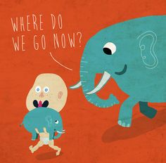 """""""where do we go now?"""" Illustration by Miguel Palomar. 2013"""