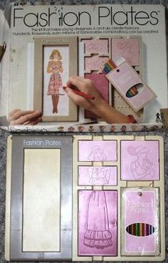Childhood Memory Keeper: Retro Pop Culture from the and Fashion Plates. LOVED my Barbie fashion plates - even if they were a hand-me-down from big sis! My Childhood Memories, Childhood Toys, Great Memories, 1970s Childhood, School Memories, Barbie, Retro Pop, Oh My Love, I Remember When
