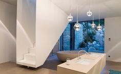 Lighting System, Lighting Design, Serge Mouille, Downlights, Pendant Lighting, Bathtub, Interior Design, Mirror, House