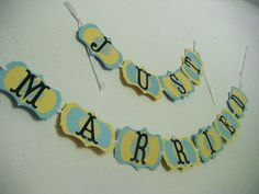 Just married banner Ready to ship or made to order by sheliarae, $30.00