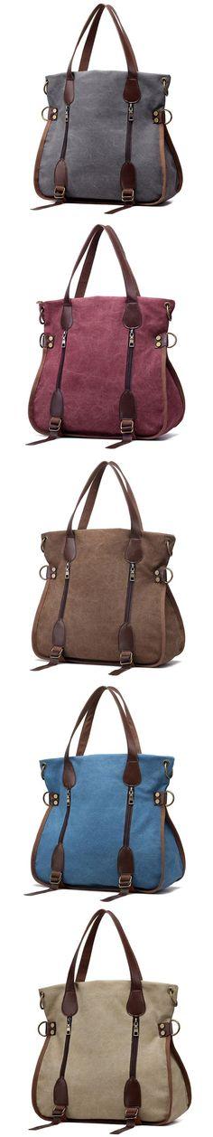 58bab04b65bd US 22.67 Women Canvas Vintage Handbag Retro Shoulder Bag Schoolbag Michael  Kors Bag