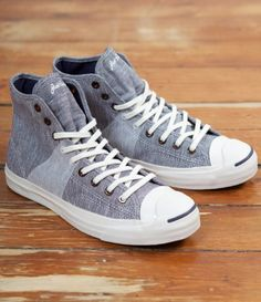 Converse First String Jack Purcell Johnny Hi. Greystone.