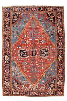 """Antique Bakhshaish Rug, 8' x 11' 7"""""""
