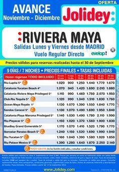 Avance Nov - Dic a Riviera Maya desde 900€ Tax incl. Salidas lunes y viernes desde Mad con Evelop! ultimo minuto - http://zocotours.com/avance-nov-dic-a-riviera-maya-desde-900e-tax-incl-salidas-lunes-y-viernes-desde-mad-con-evelop-ultimo-minuto/