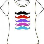 Camiseta Color Moustache