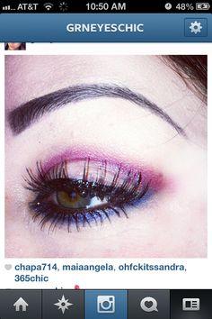 Purple n blue