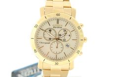 d64cdf750c55 Ladies Citizen FB1342-56P Eco-Drive Gold-Tone Stainless Chronograph Watch