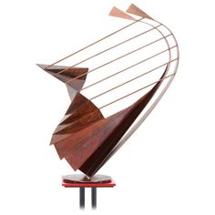 Sculpture on Pedestal by Robert Roesch, 1986 1