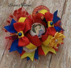 Snow White Inspired Over the Top Boutique Style Hair Bow