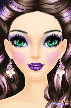 Beautiful girl.  By:Pao.  From  the game Halloween Make Over
