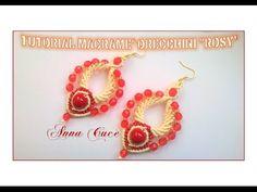 "Tutorial macramè orecchini ""Rosy""/Tutorial macramé bracelet ""Rosy""/Diy tutorial - YouTube"