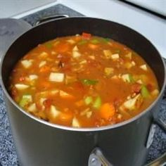 "Manhattan Style Clam Chowder | ""My husband is a HUGE fan of Manhattan Clam Chowder, this made his day! """