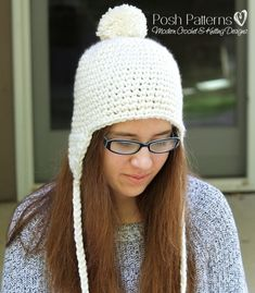 This adorable earflap hat crochet pattern is perfect for beginners, and great for all ages!