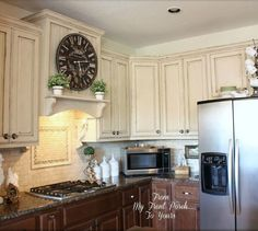 s 15 easiest ways to totally transform your kitchen cabinets, kitchen cabinets, kitchen design, Distress the paint to get farmhouse charm