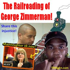 The Zimmerman case is becoming a farce! The prosecution knows they cannot convict Zimmerman on a murder charge so, a day or so before the case goes to jury, they convince the judge to allow jurors to now consider manslaughter? And this AFTER the defense has rested their case?