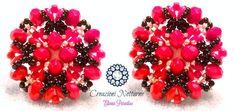 "Beading pattern lobe earring ""Red Passion"" Tutorial on my Etsy shop: CreazioniNotturne.etsy.com"