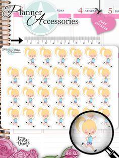 Sticker - Jogging Sticker Mädchen Sticker NR946 - ein Designerstück von PlannerAccessories bei DaWanda
