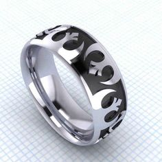 Star Wars | 11 Fabulously Geeky Wedding Rings. Not just for a wedding ring.  DW: This is a great looking ring. Imperial one would be preferred though.