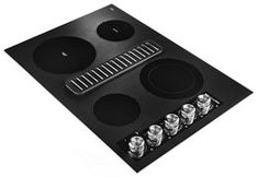 in Black by KitchenAid in Seattle, WA - Electric Downdraft Cooktop with 4 Elements - Black Electric Hob, Electric Cooktop, Major Kitchen Appliances, 4 Element, Ventilation System, Us Map, Kitchenaid, Apple Tv, Remote
