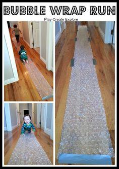 Bubble Wrap Run: Simple Indoor Fun!