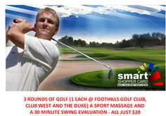 3 Rounds of Golf in Phoenix for Just $20 Incredible - Plus a massage and swing evaluation - from www.monsoondeals.com