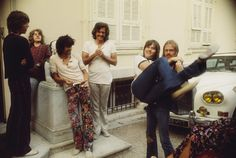 The Stones and Bobby Keys in France during the recording of Exile On Main St