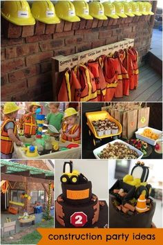 construction truck boy's digger birthday party theme