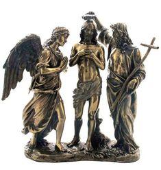 Baptism Of Christ Sculpture, Male-Sculptures-Statues, Jesus Christ Statue, Sculpture Art, Sculptures, Baptism Of Christ, Religious Images, Decoration, Religion, It Cast, Bronze