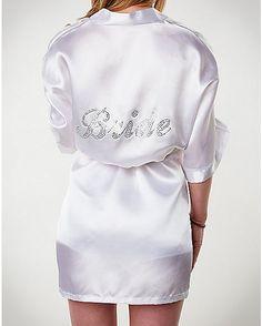 White Bride Robe - Spencer's
