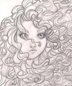 Brave - Merida: Disney, princesse, croquis - New Ideas Art Disney, Disney Kunst, Disney Sketches, Disney Drawings, Disney Princess Sketches, Drawing Disney, Inspiration Art, Art Inspo, Drawing Sketches