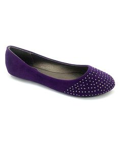 Purple Embellished Flat