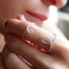 """Loopy"" Double Diamond Loop Ring - Plukka - Shop Fine Jewelry Online"
