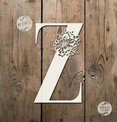 SALE Floral Letter 'Z' SVG Pdf Design - Papercutting Vinyl Template Commercial Use - Papercut - nursery papercut - new baby papercut Floral Letters, Paper Letters, Paper Cut Design, Paper Lace, Stencil Painting, Cricut Creations, Kirigami, Lettering Design, Paper Cutting