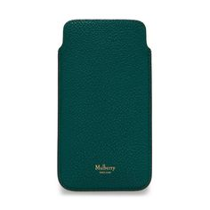 Shop the iPhone 6/7 Cover & Card Slip in Ocean Green Small Classic Grain at Mulberry.com. Smart and sleek, the iPhone 6/7 Cover is designed to be unobtrusive and chic. The cover keeps your phone safe, and features a subtle Mulberry logo on hard-wearing leather that will relax and soften beautifully with age. This practical style also features a credit card slip for additional convenience.