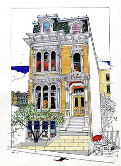 Painted Ladies Mixed Media - Whats In Your Window? by Ira Shander