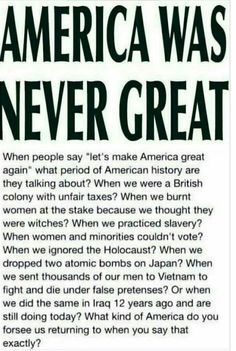 Not to mention what we did to Native Americans
