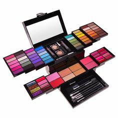 VALUE, COSMENTIC SET: SHANY Cosmetics Mega Beauty Set - Double Layer of Eyeshadows, Powders , Brushes and More - BB1100: Beauty