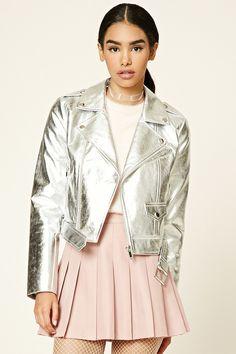 Metallic Moto Jacket