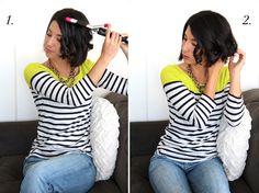 This Time Tomorrow: hair tutorial: wavy bob Short Hair Waves, How To Curl Short Hair, Cut My Hair, New Hair, Pretty Hairstyles, Bob Hairstyles, Wavy Bobs, Hair Today, Hair Dos