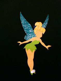 Tinkerbell silhouette by ThePaperDaffodil on Etsy, $7.99
