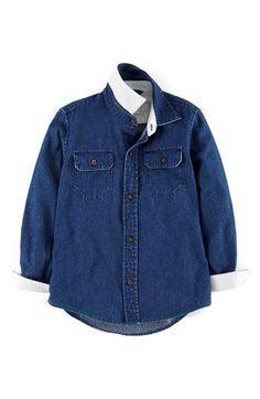 Mini Boden Denim Shirt (Toddler Boys, Little Boys & Big Boys) | Nordstrom