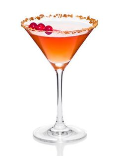 The Rumba (1¾ oz. Atlantico Rum  1 oz. apple cider  ¾ oz. cranberry juice  ½ oz. lime juice  ¾ oz. simple syrup  Garnish: three cranberries)