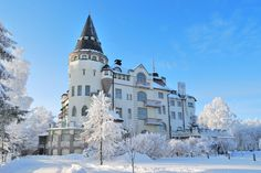 Picture of Very beautiful snowy winter in Imatra, Finland stock photo, images and stock photography. Meanwhile In Finland, Art Nouveau, Countries To Visit, Chef D Oeuvre, Arctic Circle, City Landscape, Winter Pictures, Helsinki, Beautiful Landscapes