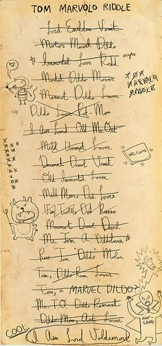 Voldemort's scratch paper - The Boy Who Lived (To Be Hilarious)