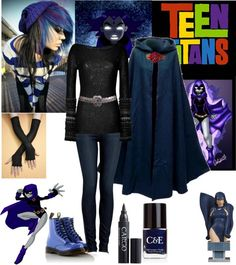 "polyvore teen titans | Teen Titans: Raven (My Favorite 3)"" by crystalline-switchblade ..."