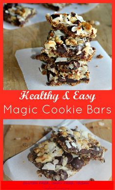 Healthy Magic Cookie Bars #Christmascookies - Simple And Savory