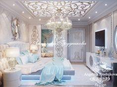 Дизайн интерьера спальни в стиле Ар Деко (мебель - фабрика Visionnaire). Фото 2017 - Спальни