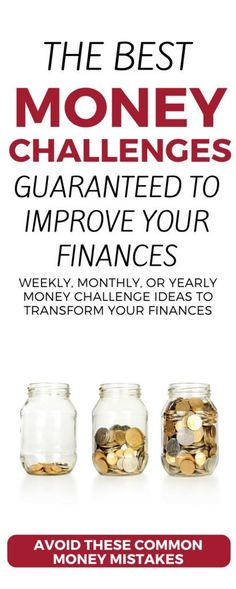 Looking to improve your finances? Check out these weekly, 30-day, and 52-week money saving challenges and money making challenges. Build an emergency fund, get out of debt, earn money on the side—use these ideas, printables, and worksheets to transform yo