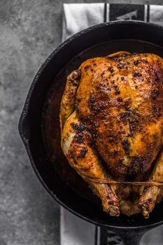 This is the perfect easy roasted chicken recipe. The skin is perfectly crisp and crackly, there's no basting, and it results in a lovely pan gravy at the finish. Easy enough for a weeknight dinner!